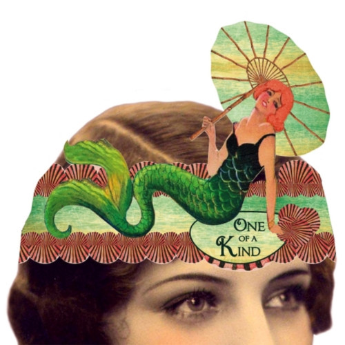 One of a Kind Mermaid Mailable Wearable Paper Tiara Greeting Card-A