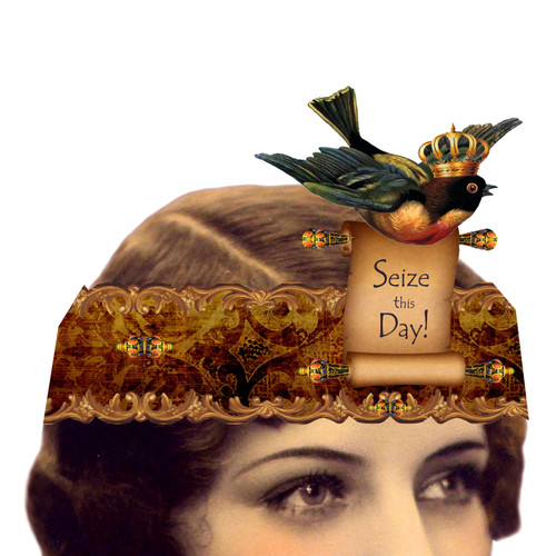 Seize This Day Mailable Wearable Paper Tiara Greeting Card