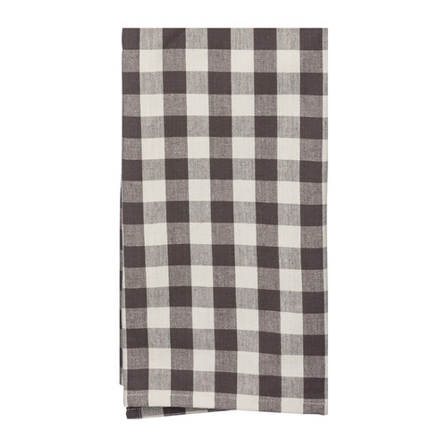 Gray & Cream Buffalo Check Farmhouse Kitchen Towel