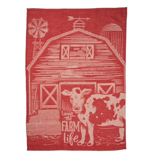 Living the Farm Life Jacquard Kitchen Towel - A