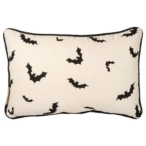 Happy Halloween Accent Pillow with Jack 'O Lantern & Black Cats BACK