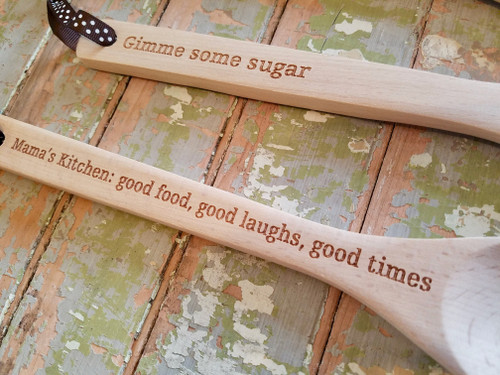 Stir Crazy Wooden Spoon with Choice of Saying