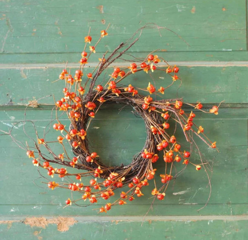 Autumn Harvest Faux Bittersweet and Twig Wreath