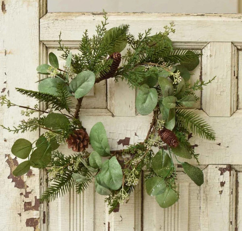 Mixed Pine, Cedar and Floral Christmas Wreath or Candle Ring