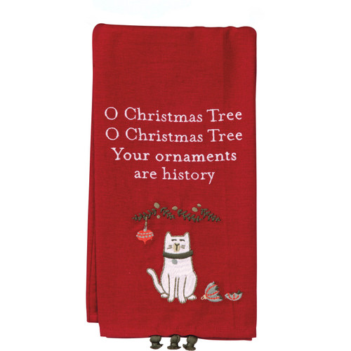 Oh Christmas Tree Your Ornaments Are History Tea Towel
