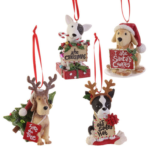 Resin Dog Ornament with Cute Saying