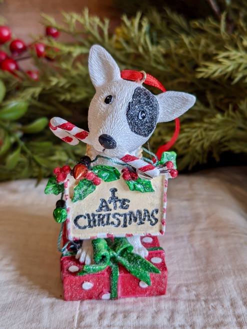 Resin Dog Ornament with Cute Saying - C