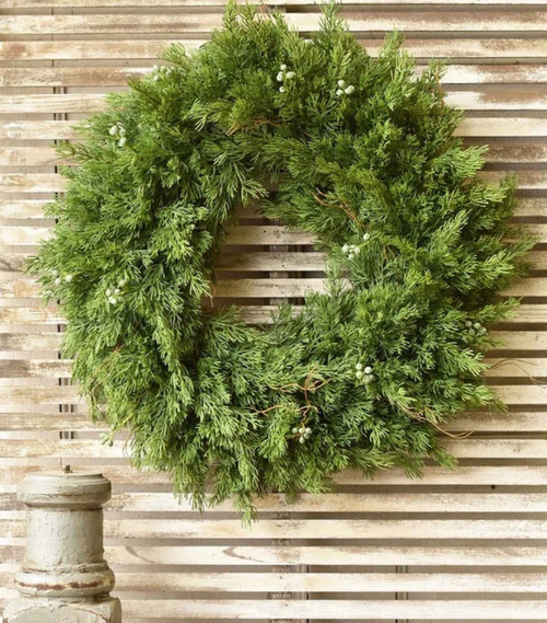 Spectacular Winder Cedar Farmhouse Christmas Wreath 20""