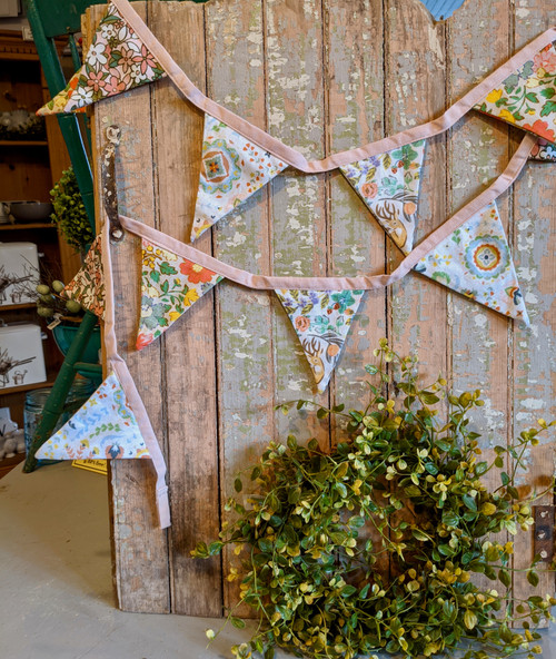 Colorful Cotton Floral Bunting Garland  - A
