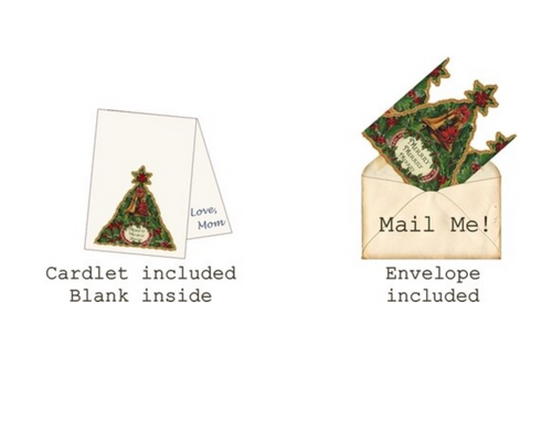 Merrily Merrily Mailable Wearable Paper Tiara Christmas Greeting Card - B