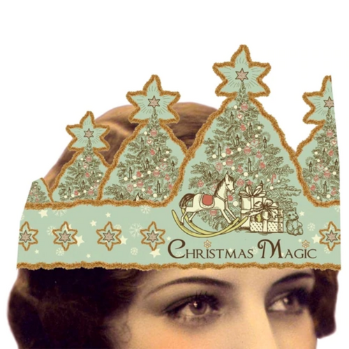 Christmas Magic Mailable Wearable Paper Tiara Christmas Card - A