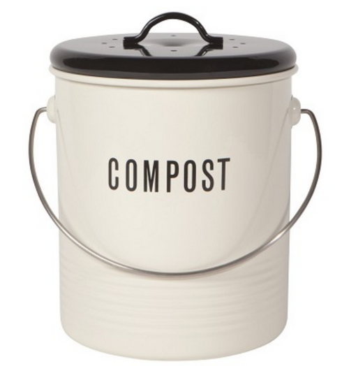 Metal Compost Bucket with Lid & Filter - A