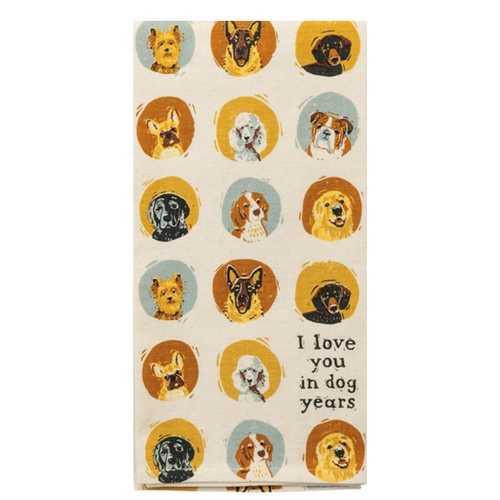 I Love You in Dog Years Cotton & Linen Towel
