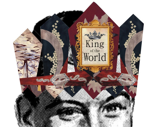 King of the World Mailable Wearable Paper Tiara Greeting Card - A