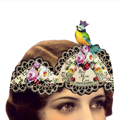 Best. Mom. Ever. Mailable Wearable Paper Tiara Greeting Card - A