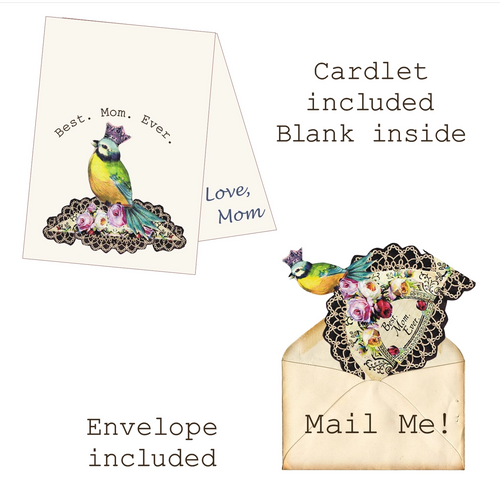 Best. Mom. Ever. Mailable Wearable Paper Tiara Greeting Card - B