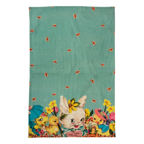 Colorful Vintage Style Happy Easter to You Kitchen Towel - B