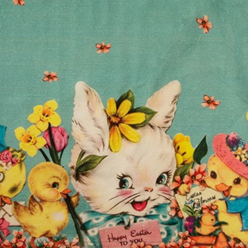 Colorful Vintage Style Happy Easter to You Kitchen Towel - A