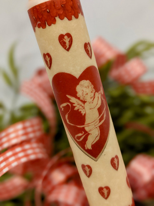 Cupid Heart LED Battery Operated Valentine Taper Candle - B
