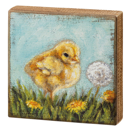 Rustic Springtime Baby Chick Box Sign