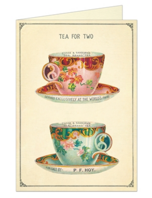 Tea for Two Valentine Card