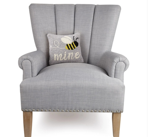Bee Mine Hooked Accent Pillow -B