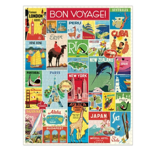 Bon Voyage 1000 Piece Travel Jigsaw Puzzle - A