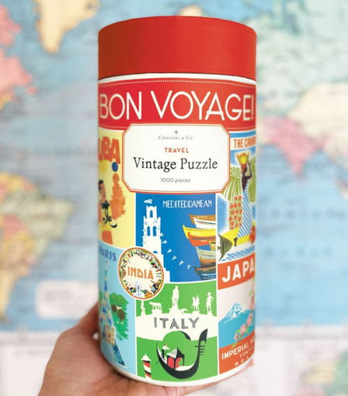 Bon Voyage 1000 Piece Travel Jigsaw Puzzle - B