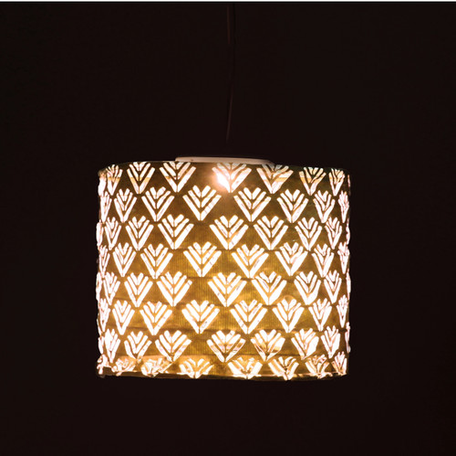Elegant Copper TYVEK Fabric Solar Outdoor Lantern Drum Shade - B