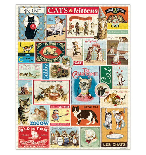 Cats & Kittens 1000-Piece Jigsaw Puzzles
