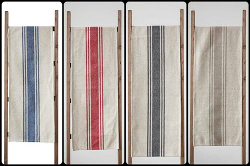 "Rustic Striped Farmhouse Table Runner 72"" - 4 Colors"
