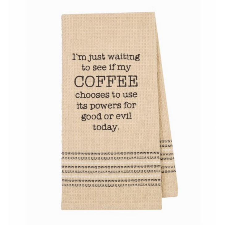 Coffee Good or Evil Kitchen or Bar Towel