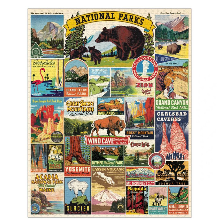 1000 Piece National Parks Jigsaw Puzzle Full Design