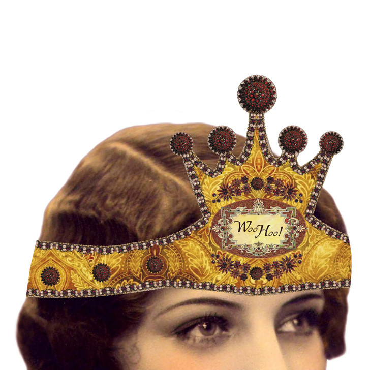 WOO HOO! Mailable Wearable Paper Tiara Greeting Card-A
