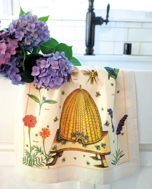 Bees & Honey Beekeeper's Guide to Pollinating Plants Kitchen Towel in Kitchen