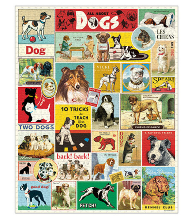 All About Dogs 1000-Piece Jigsaw Puzzle
