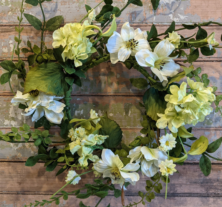 Moonlit Garden Wreath or Candle Ring - A