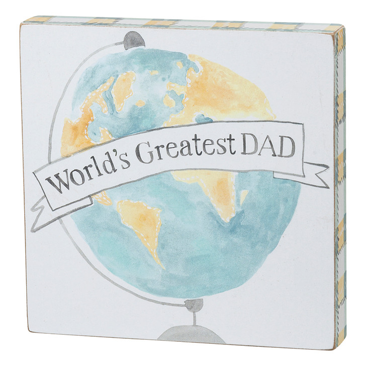 World's Greatest Dad Block Sign for Father's Day