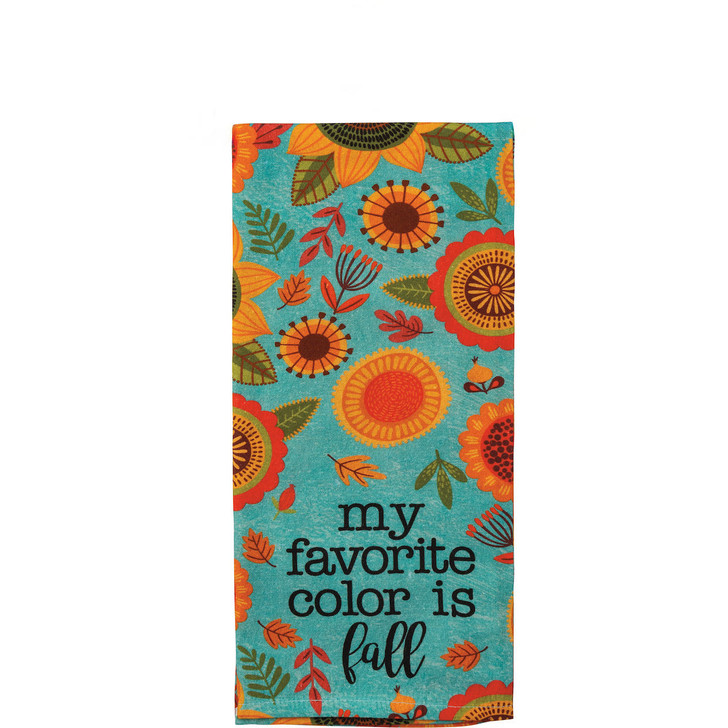 Fall is My Favorite Color Autumn Dish Towel  - A