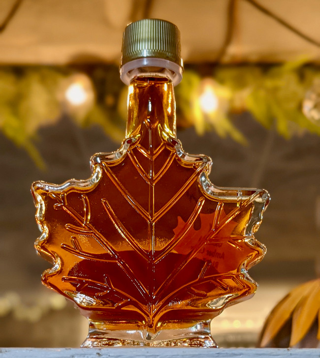 New York State Maple Syrup in 50 ML Maple Leaf Bottle