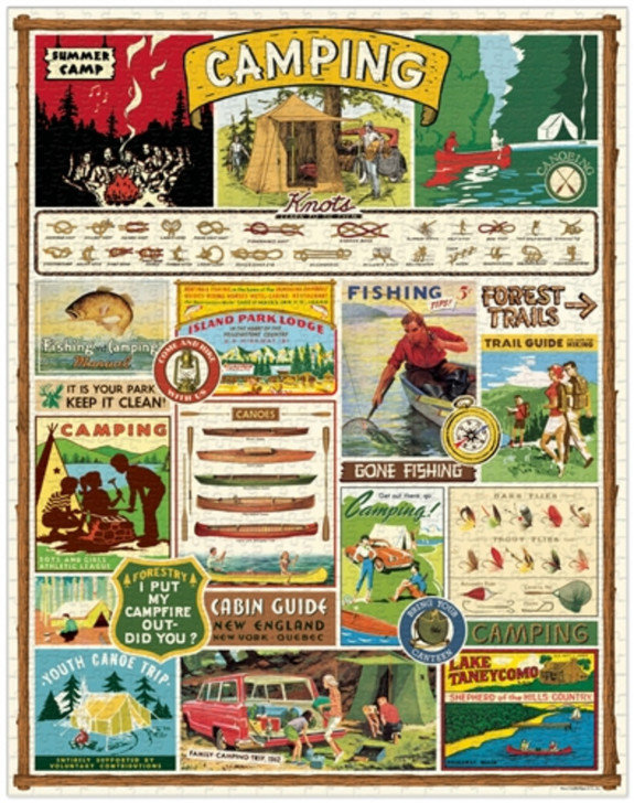 Vintage Camping Images 1000-piece Jigsaw Puzzle - A