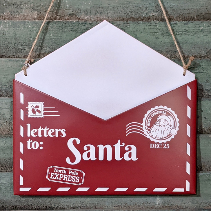 Letters to Santa Metal Wall Decor for Christmas - A