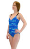VF-Sport - One Piece Swimsuit, Wave Blue Print