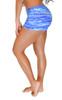 VF-Sport - Bikini Bottom Boyshorts, Wave Blue Print