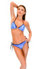 VF-Sport - Bikini, Wave Blue Triangle Top and String Bottom, Two Piece Set