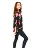 Top - 3/4 Sleeve, Floral Print