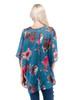 Top - Floral Top, Dolman Sleeve