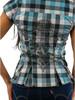 Cello Plaid Button Down Shirt Rhinestones Design on Back