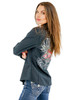 Women's Shilo Long Sleeve Western Woven Shirt Black