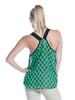Entro Emerald Argyle Print Chiffon Top